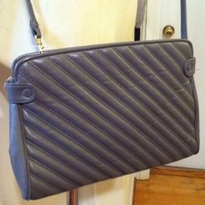Brio! Charcoal Gray Quilted Crossbody Purse